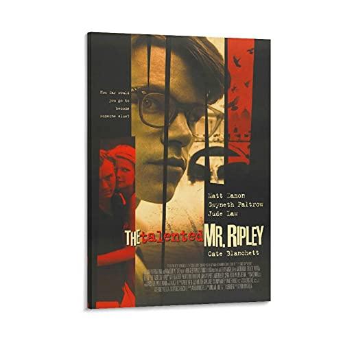 SMJP Póster de pared con talento de Mr Ripley de la película clásica, póster y arte de pared, impresión moderna para dormitorio familiar de 50 x 75 cm