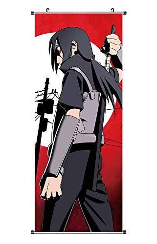 CoolChange Großes Naruto Rollbild / Kakemono aus Stoff, 100x40cm, Motiv: Itachi Uchiha Sunrise