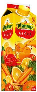 Pfanner ACE - Bevanda con vitamine ACE, Tetra, 1 l