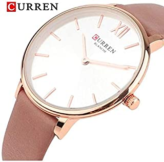 CURREN 9040 Quartz movement ladies Leather strap Luxury analogue wrist watch