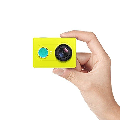 YI Action Camera 1080P Verde Lime Bianco Nero 16MP Full HD 155 Gradi Ultra-Grandangolare Sport Mini Fotocamera (Verde/Cina/Fotocamera Solo)