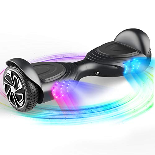 Lowest Price! TOMOLOO Music-Rhythmed Hoverboard for Kids and Adult Two-Wheel Self-Balancing Scooter-...
