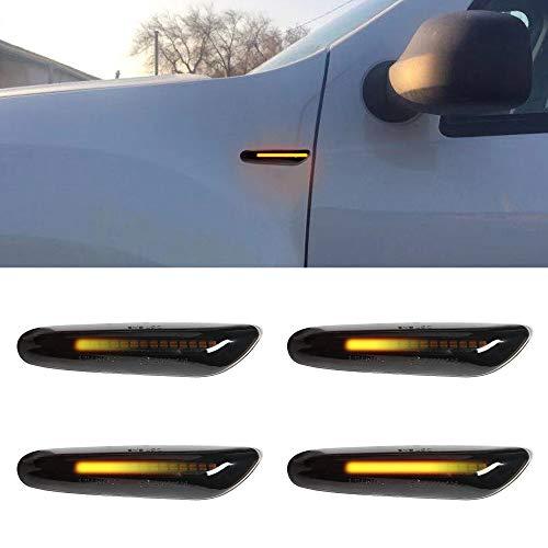 LED Blinker Seitenblinker Blinkleuchte Dynamisch Laufblinker mit E-Prüfzeichen Black Vision