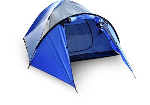 McKinley Kuppel Zelt Scape 4 Personen blau / grau