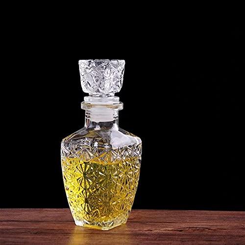QWEP Creativo Transparente Licor de Vidrio Bebidas de Vino Decanter Cristal espíritu Botella Vino Jarra de Vino para Barra Fiesta (Color : S)