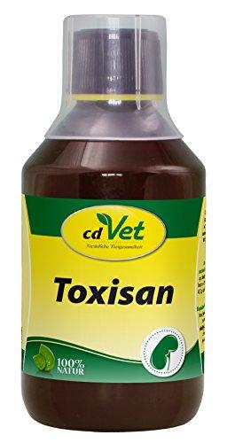cdVet Naturprodukte Toxisan 250 ml - Hund, Katze - Ergänzungsfuttermittel - Unterstützung für Leber + Niere - Entgiftung - verbessert Haut + Haar - Voraussetzung für Stoffwechselvorgänge -