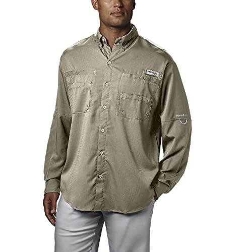 Columbia Men's Plus Tamiami II Long Sleeve Shirt, Fossil - Medium