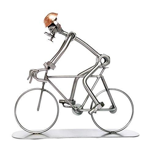 Escultura de un ciclista – Adorno creativo de metal hecho a mano – Un regalo ideal para ciclistas