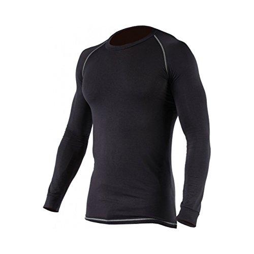 Dickies Baselayer Herren Thermo-Unterhemd, langärmlig, schwarz mit Kontrastnähten (S) (Schwarz)