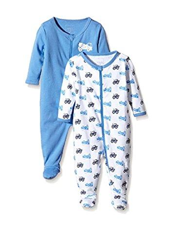 NAME IT Baby-Jungen NITNIGHTSUIT Zip W/F NB B NOOS Schlafstrampler, Mehrfarbig (Regatta), 62 (2erPack)