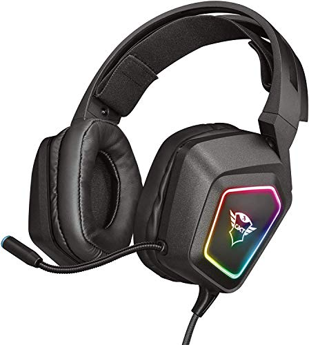 Trust GXT 450 Blizz 7.1 USB Gaming Headset (7.1 Virtual Surround Sound, für PC und Laptop, LED-Beleuchtung)