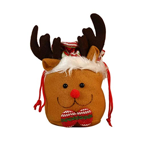 Iusun Christmas Mini Storage Bag Candy Gift Bag Decorations Pendant Ornament DIY Dress Up Xmas Tree Wall Window Decor for Party New Year