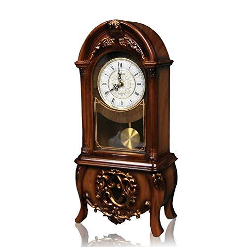 Relojes de la chimenea Permanente cuarzo del reloj de tabla libre de los relojes de la plataforma del reloj del escritorio sala de estar pendiente de dormitorio de la manera retro sentada reloj de plá