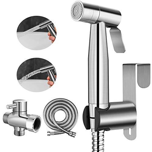 Hand-Bidet-Sprayer für Toilette, 2 Wasserdruck-Option, Sprühaufsatz mit Schlauch für weibliche Wäsche, Baby-Windel-Wascher, Edelstahl, Badezimmer-Set für das Bidet-Sprayer-Set für Haustiere