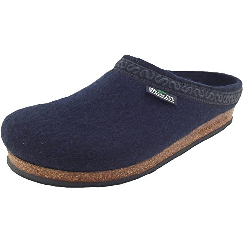 Stegmann 108 108-8803 Unisex Wollfilz-Pantoffeln, dunkelblau (Navy), Gr. 40