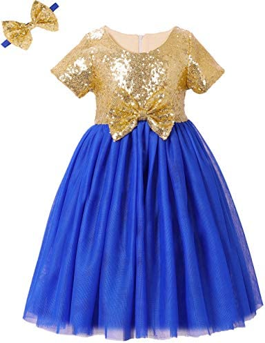 Royal blue with gold dress _image1