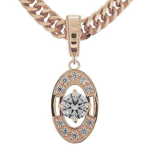 [プレジュール]ネックレス メンズ 18k ピンクゴールド 18金 18K k18 ダイヤモンド 喜平ネックレス シンプル