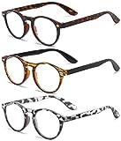 VEVESMUNDO® Lesebrillen Damen Herren Retro Runde Lesehilfe Sehhilfe Arbeitsplatzbrille Nerdbrille...