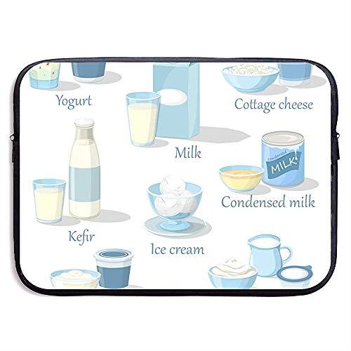 15inch Joghurt und Kefir Hüttenkäse und EIS Wasserabweisend Laptop Schutzhülle Tasche Hülle