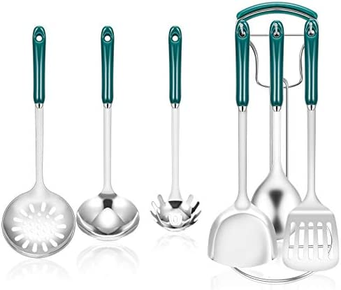 Kitchen Utensil Set 7Pcs Stainless Steel Cooking Utensils Set with Stand Premium Kitchen Cookware product image