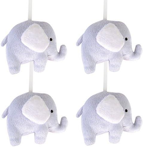 Trend Lab Gray Circles with Elephants Crib Mobile Gray