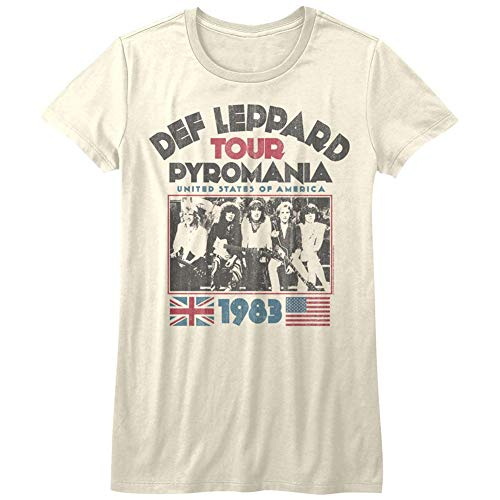 Def Leppard 1977 English Rock Band 1983 USA Pyromania Tour Natural JRS T-Shirt