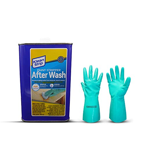 Klean-Strip Paint Stripper After Wash Eliminate Stubborn Paint residues Easier to Apply and give Protective Qualities Now Comes with Centaurus AZ Chemical Resistant Gloves, 1 Quart