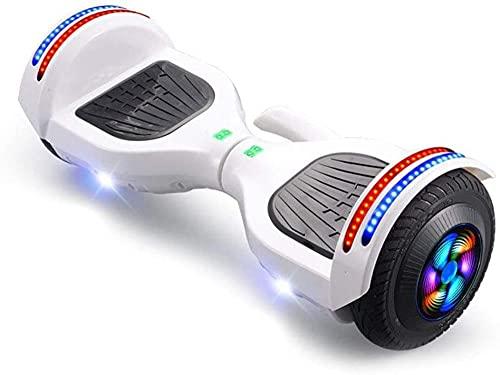 JSL Scooter eléctrico de dos ruedas de 8 pulgadas con diseño portátil añadido con altavoz Bluetooth, luces LED intermitentes, mejores regalos para niños+ un conjunto