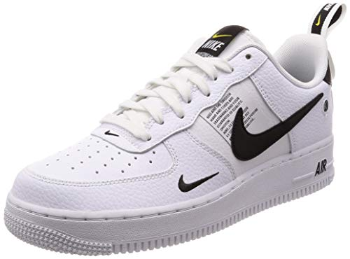Nike Air Force 1 '07 Lv8 Utility, Zapatillas de Gimnasia Hombre, Blanco (White/White/Black/Tour Yellow 100), 49.5 EU
