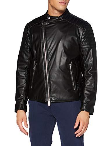 Armani Exchange Blouson Jacket Chaqueta de Cuero de imitación, Black, XL para Hombre