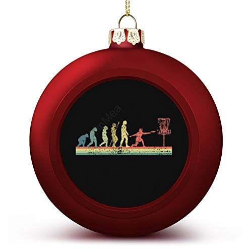 VinMea Christmas Ball Ornaments Disc Golf Funny Sports Evolution Hanging Ball Decorative For Christmas Trees,Holiday Party