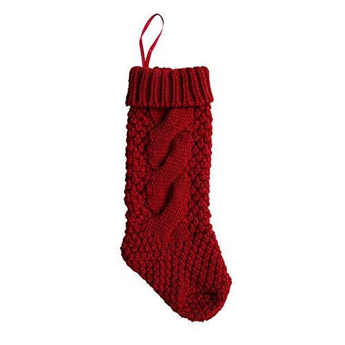 Millster lavorati a mano sacchetto regalo di Natale, calze di Natale Candy bag decorativa calza per decorazioni natalizie e Home