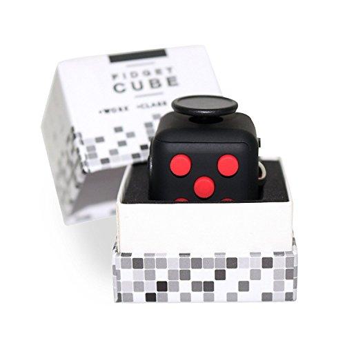 Premium Fidget Würfel inklusive hochwertiger Geschenkverpackung - Top Qualität! Fidgy der originale Anti Stress Cube für den Alltag