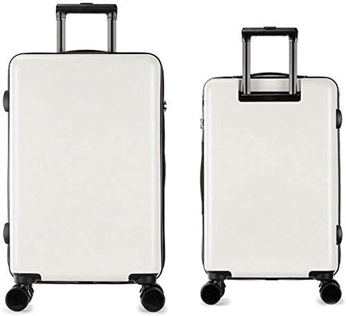 JKLL Viajes Feixunfan Maleta Ligera conjunto con TSA Lock rotador del equipaje del recorrido de la carretilla de la maleta Carry columna vertical silencioso rotador multi-direccional de embarque aeron