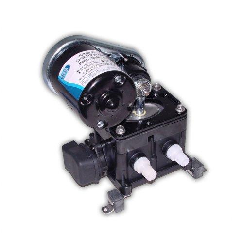 Jabsco 36950-2000 Marine PAR Bomba de presión de agua de alta transmisión de correa (3-GPM, 40-PSI, 12 voltios, 8 amperios, hasta 4 salidas), negro