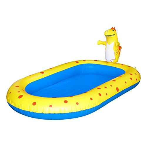 POHOVE Aspersor inflable piscina para bebés, piscina de agua para vadear, piscina para bebés, piscina para niños y niñas de 1 a 12 años