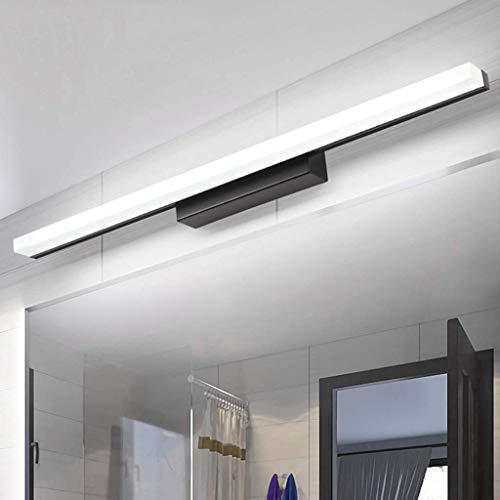 WYZQ LED-Spiegel-Frontleuchte, Moderne Schwarze Badezimmer-Wandleuchte, europäische Make-up-Leuchte, Schwarze Antibeschlag-Waschtischleuchte, Spiegellampe, Leuchte Badezimmerspiegel-Schranklampe,