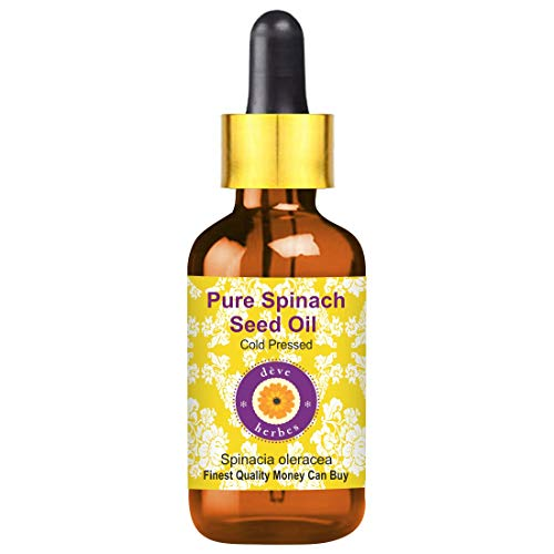 Deve Herbes Pure Spinach Seed Oil 10ml (Spinacia oleracea) with Glass Dropper 100% Natural Therapeutic Grade (0.338oz)