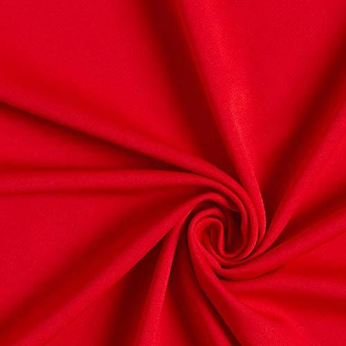 Fabulous Fabrics Jersey rot, Uni, 150cm breit – zum Nähen von Oberkleidung, Hosen und T-Shirts - Meterware erhältlich ab 0,5 m