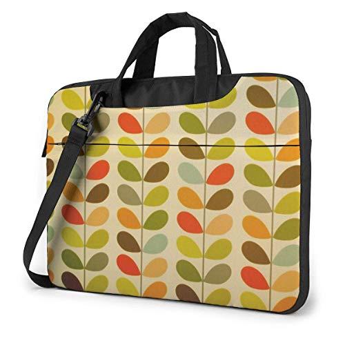 Maletín para portátil con Hojas de Colores Compatible con Ultrabook de 13-15,6 Pulgadas, maletín para Llevar en el Hombro, con Correa,