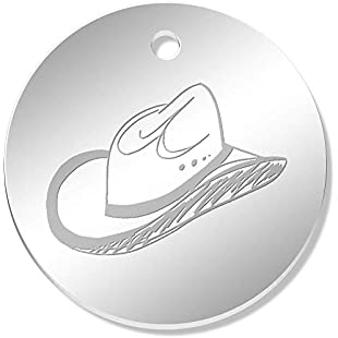 Azeeda 11 x 34mm 'Cowboy Hat' Mirror Pendants / Charms (PN00052004):Tudosobrediabetes