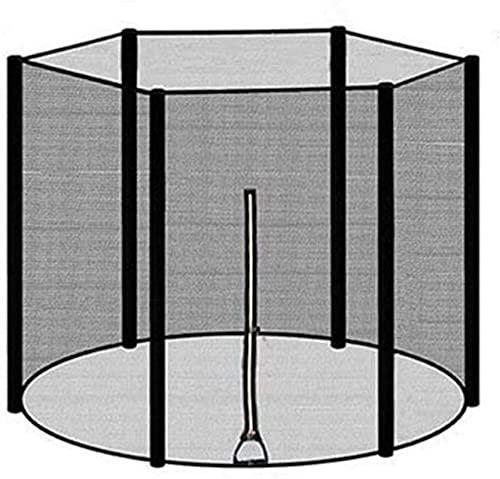 SKYWPOJU Red de trampolín 183/244/306/366 cm 6 8 postes, red de recambio de trampolín, red para trampolín, red de seguridad para trampolín, borde protector de trampolín (solo incluye la red protectora