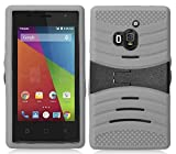 Coolpad Rogue case, LF Hybrid ual Layer Armor Case with Kickstand, Stylus Pen, Screen Protector & Wiper Accessory. (Armor Grey)