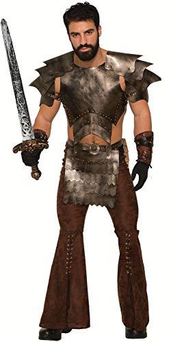 shoperama 6-teilige Mittelalter Rüstung Kunstleder Gr. L/XL Herren Kostüm LARP Krieger Gladiator Harnisch