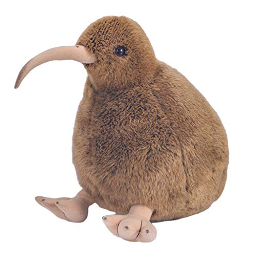 SM SunniMix Peluche Pájaro Kiwi, Juguete de Muñeca para Niños, Bebé 28 cm - marrón