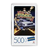 Back to The Future 2 Movie, 500-Piece Jigsaw Puzzle in Plastic Retro Blockbuster VHS Video Case, for Adults and Kids Ages 8 and up