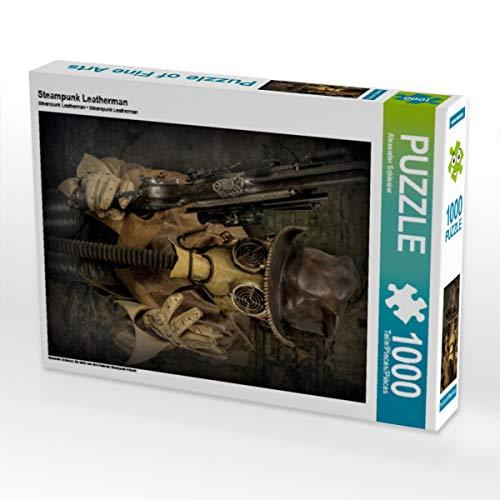 CALVENDO Puzzle Steampunk Leatherman 1000 Teile Lege-Größe 48 x 64 cm Foto-Puzzle Bild von Steampunk Artwork