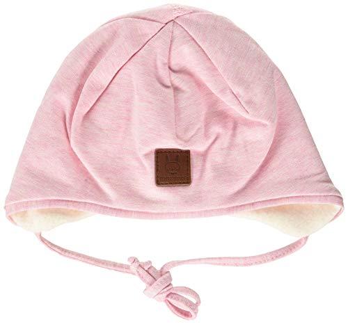 maximo Baby-Mädchen Band Beanie-Mütze, zartrosameliert, 41