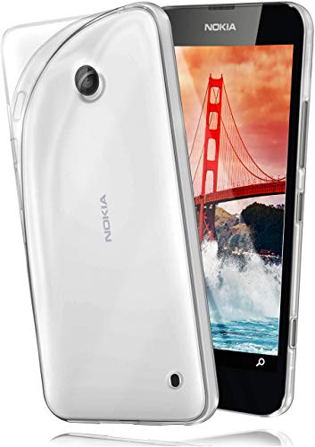 MoEx Cover Trasparente Compatibile con Nokia Lumia 520/525 | Anti-Scivolo ed Extra Sottile, Trasparente
