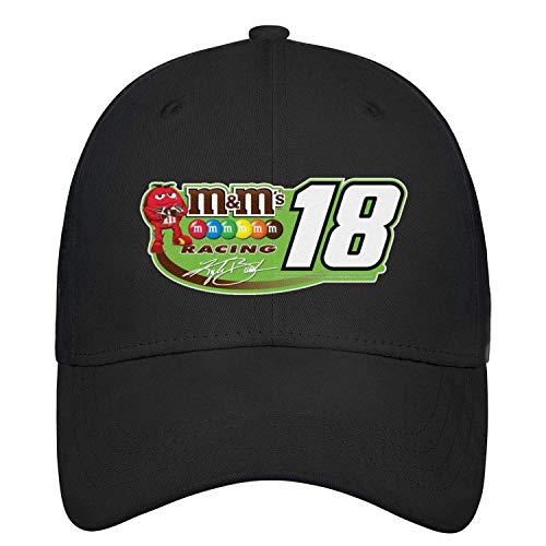 Unisex Womens Polo Style Baseball Cap 18-Kyle-Busch-M&18- Outdoor Dyed All Cotton Adult Cap Gorgeous 23788